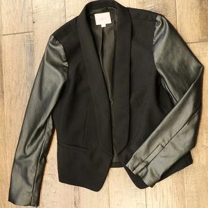 LOFT Jackets & Coats - LOFT | black blazer | faux leather jacket